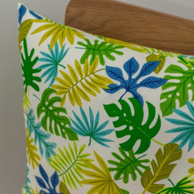 Exotic Leaves Cotton Print Cushion