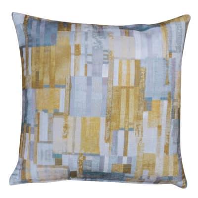 Cubist Chenille Cushion in Ochre
