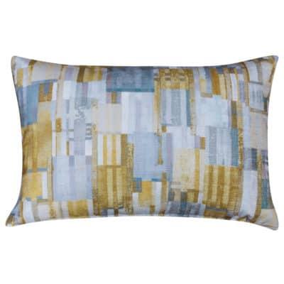 Cubist Chenille XL Rectangular Cushion in Ochre