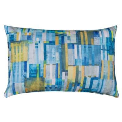 Cubist Chenille XL Rectangular Cushion in Lagoon