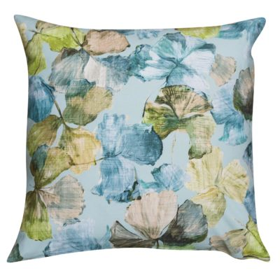 Falling Leaves Extra-Large Cushion in Ocean Blue