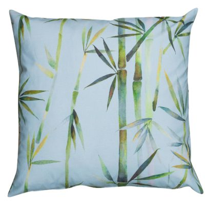 Duck Egg Blue Bamboo Branch Extra-Large Cushion