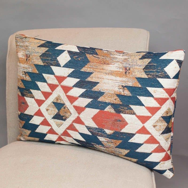 XL Heavyweight Abstract Kilim Rectangular Cushion