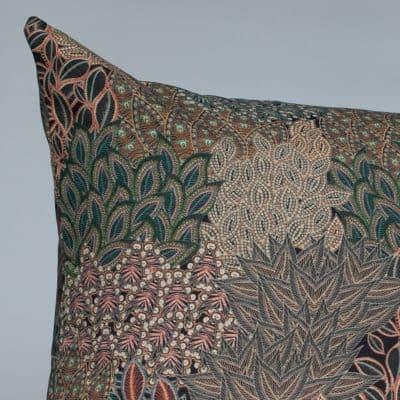 Winter Garden Linen Blend Cushion in Olive