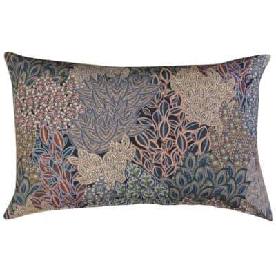 Winter Garden Linen Blend XL Rectangular Cushion in Olive