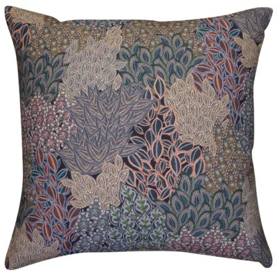 Winter Garden Linen Blend Extra-Large Cushion in Olive
