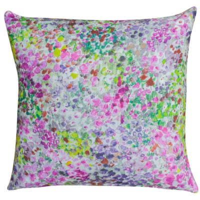 Provence Floral Cushion in Pansy Pink