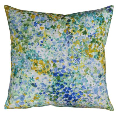 Provence Floral Cushion in Delphinium Blue