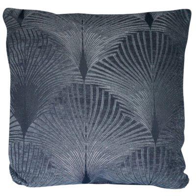 Art Deco Fan XL Cushion in Grey and Silver