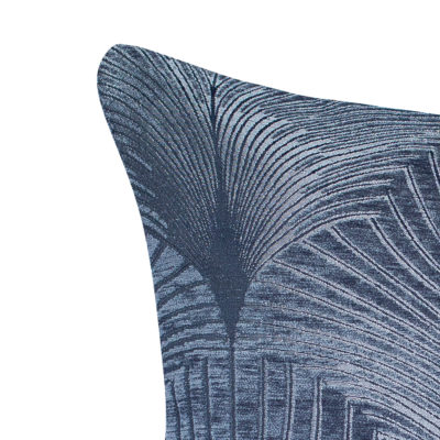 Art Deco Fan XL Rectangular Cushion in Grey and Silver