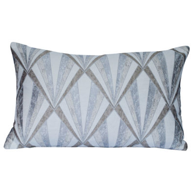 Metallic Art Deco XL Rectangular Cushion in Almond