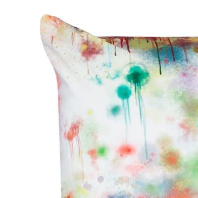 Spray Paint Velvet Extra-Large Cushion in White