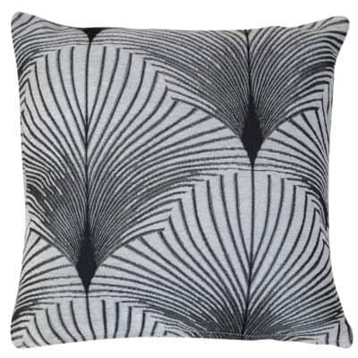 Art Deco Fan Cushion in Pearl White