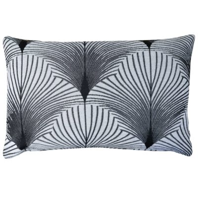 Art Deco Fan XL Rectangular Cushion in Pearl White