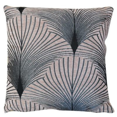 Art Deco Fan Cushion in Blush Pink
