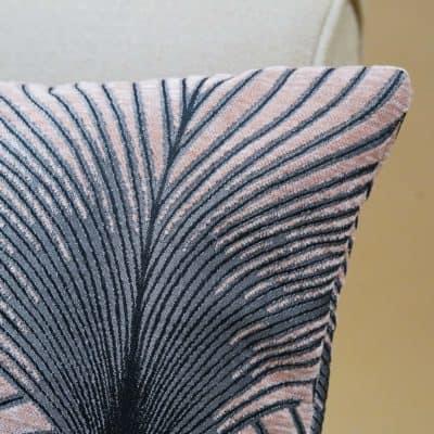 Art Deco Fan XL Rectangular Cushion in Blush Pink