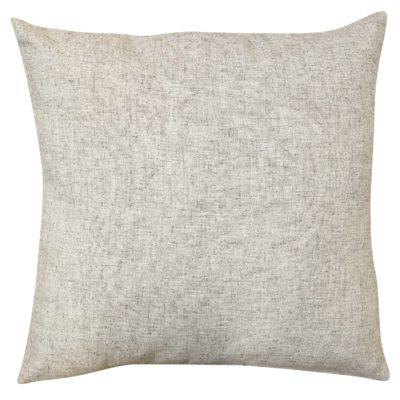 Plain Slub Linen Blend Cushion in Natural