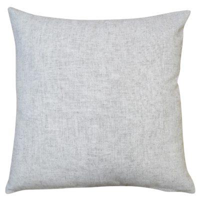 Plain Slub Linen Blend Cushion in Pebble