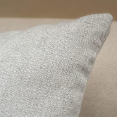 Plain Slub Linen Blend Cushion in Faded Grey