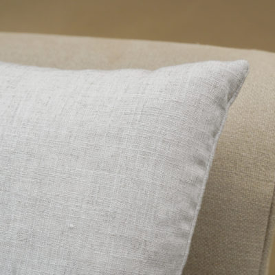 Plain Slub Linen Blend Cushion in Salt Grey
