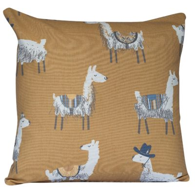 Ochre Alpaca Print Cushion