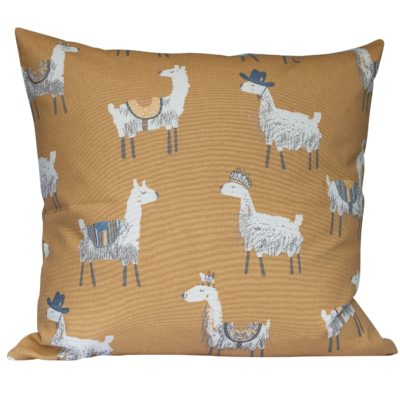 Ochre Alpaca Print Extra-Large Cushion