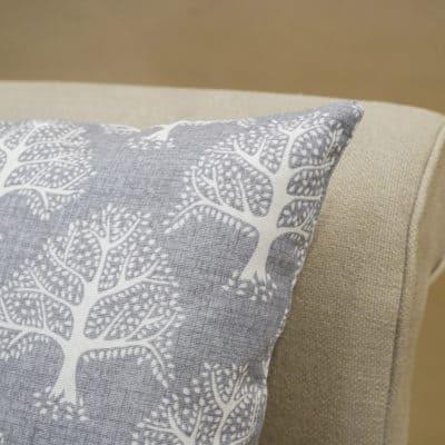 Oak Tree Cushion in Dove Grey