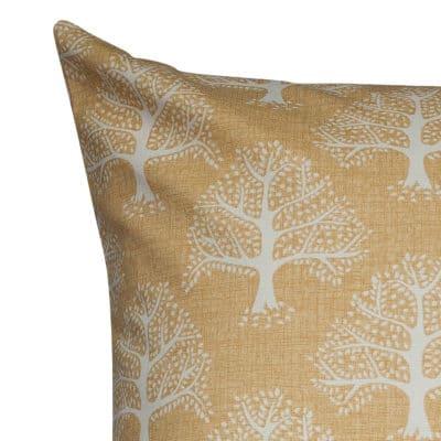 Oak Tree Extra-Large Cushion in Ochre