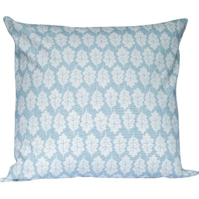 Autumn Leaf Extra-Large Cushion in Duck Egg