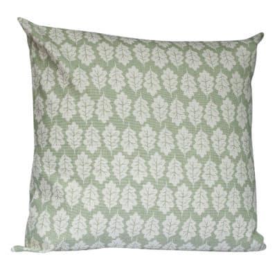 Autumn Leaf Extra-Large Cushion in Sage