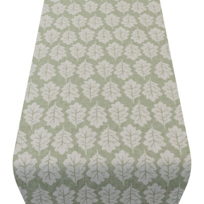 Autumn Leaf Table Runner in Sage Green