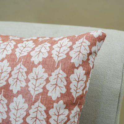 Autumn Leaf Cushion in Terracotta