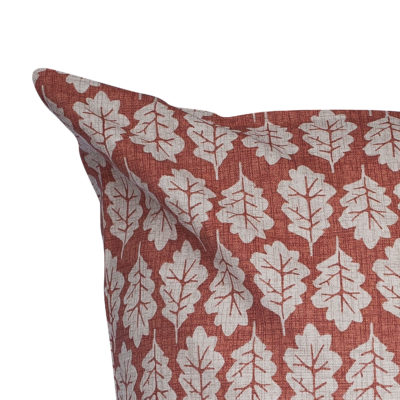 Autumn Leaf Extra-Large Cushion in Terracotta