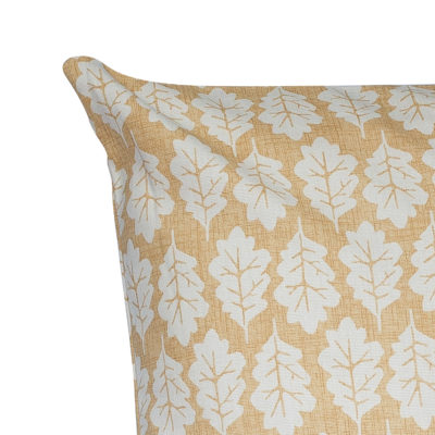Autumn Leaf Cushion in Ochre