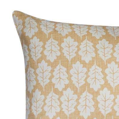 Autumn Leaf XL Rectangular Cushion in Ochre