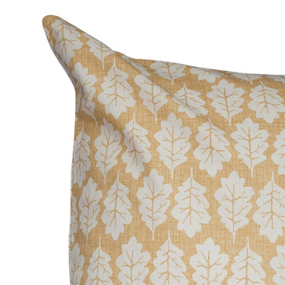 Autumn Leaf Extra-Large Cushion in Ochre