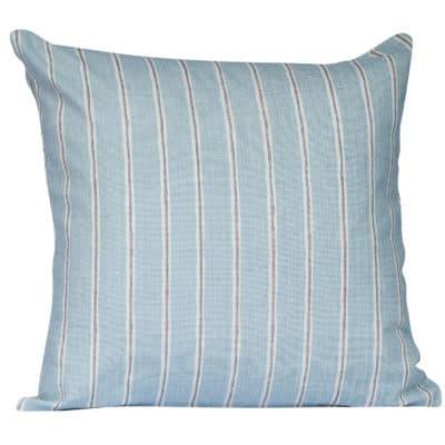 Cambridge Stripe Cushion in Duck Egg