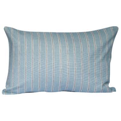 Cambridge Stripe XL Rectangular Cushion in Duck Egg
