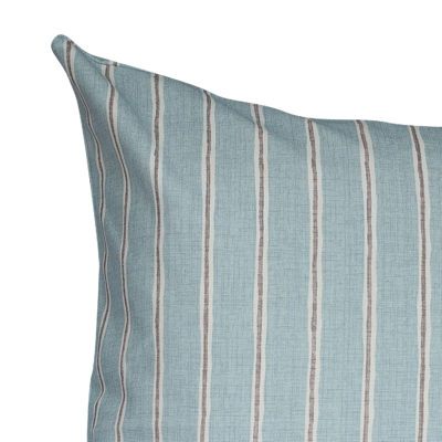 Cambridge Stripe Extra-Large Cushion in Duck Egg