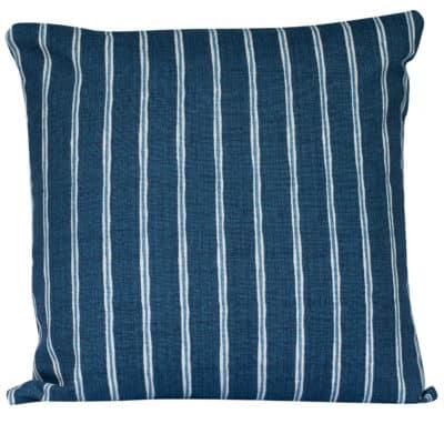 Cambridge Stripe Cushion in Indigo