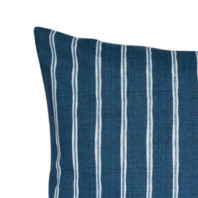 Cambridge Stripe XL Rectangular Cushion in Indigo