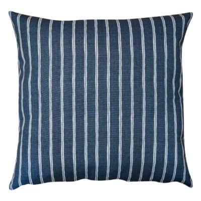 Cambridge Stripe Extra-Large Cushion in Indigo