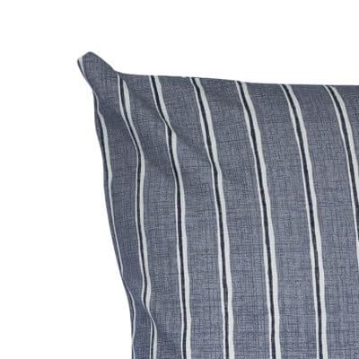 Cambridge Stripe Cushion in Dove Grey