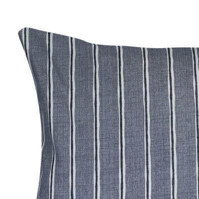 Cambridge Stripe XL Rectangular Cushion in Dove Grey