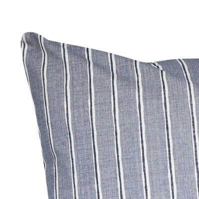 Cambridge Stripe Extra-Large Cushion in Dove Grey