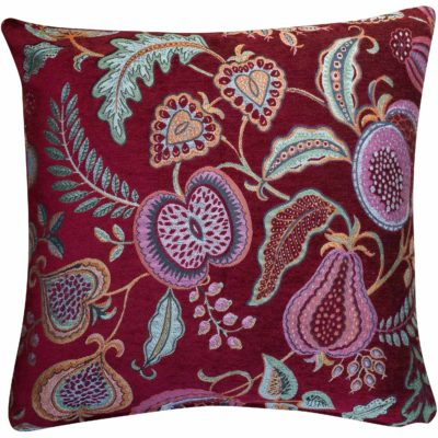 Coleton Meadow Chenille Extra-Large Cushion in Red
