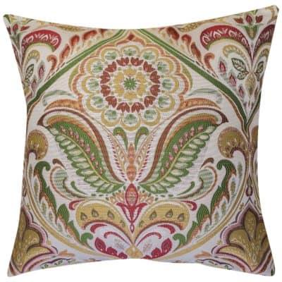 Florence Art Nouveau Cushion in Burgundy