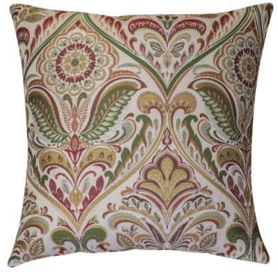 Florence Art Nouveau Extra-Large Cushion in Burgundy