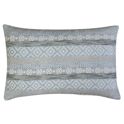 Maya Aztec Jacquard XL Rectangular Cushion in Sky Blue