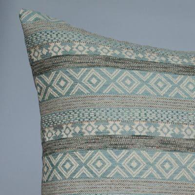 Maya Aztec Jacquard Extra-Large Cushion in Sky Blue
